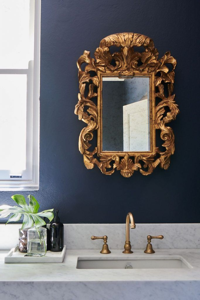 Home Tour Step Inside Wisteria House A Historic Home Reinvented By Interior Architect Alexi George Small Bathroom Decor Gold Mirror Bathroom Antique Gold Mirror