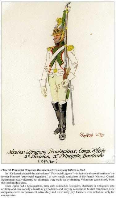 Kingdom Of Naples Officer Elite Company Provincal Dragoons 1812