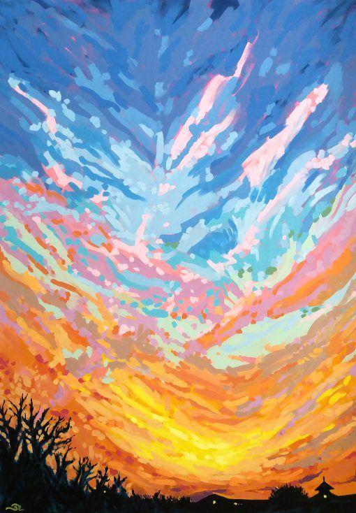 Akril festmény, mely vakrámára feszített vászonra készült. Impresszionista stílusú alkotás. A festmény keret nélkül rendelhető meg, akár egyből a falra akasztható. Az aláírás a festmény sarkán, illetve a hátulján található.