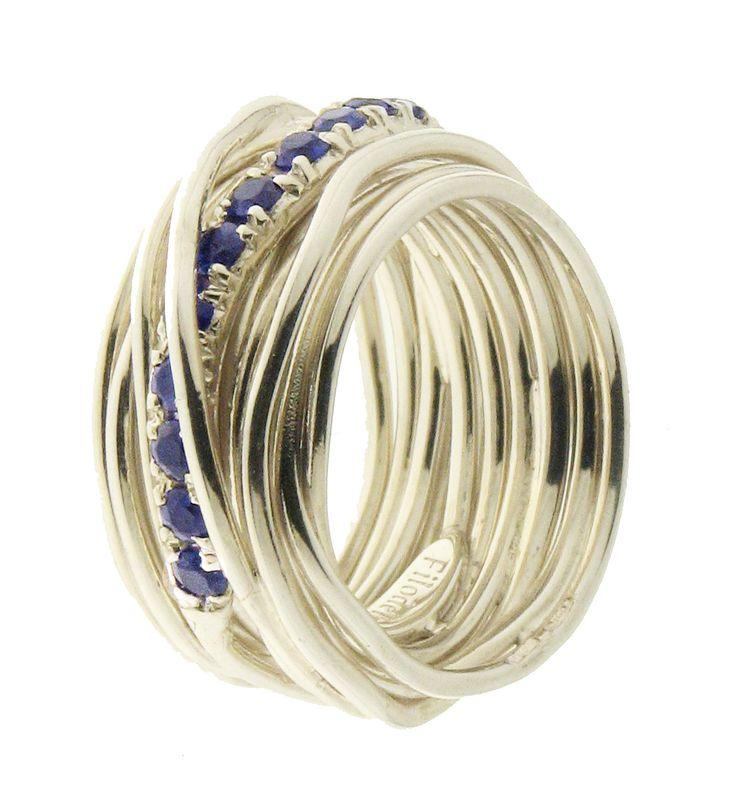 Filodellavita with blue sapphires