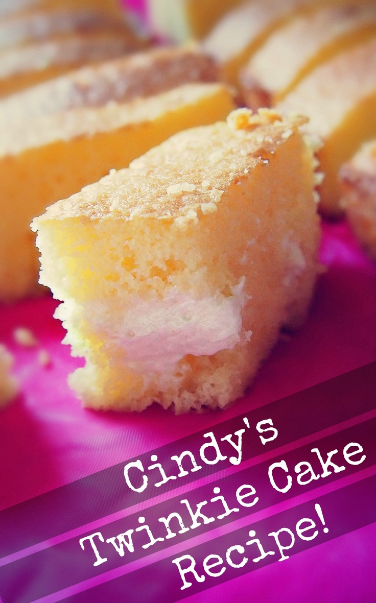 Cindy's Twinkie cake recipe, baked by Taralynn! Can't miss the Twinkie with