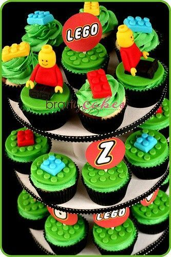 #Lego #cupcakes - For all your cake decorating supplies, please visit craftcompany.co.uk