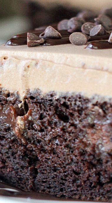 Mudslide Poke Cake
