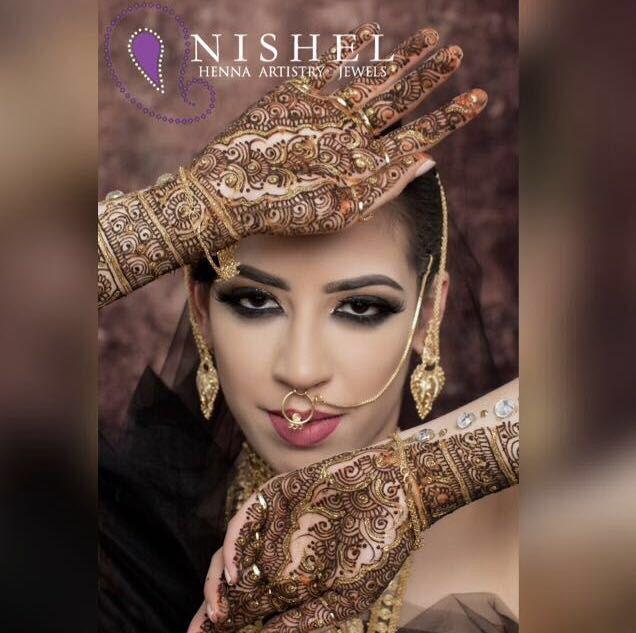 ✨Beautiful shot from a latest shoot with @fatinhasadomua & @reenathind_mua ✨Henna & Jewellery: @nishel_creations ✨MUA & Hair: @reenathind_mua ✨Styling & Direction: @fatinhasadomua ✨Photography: @kmphotographyuk ✨Model: @joshahdashian  #photoshoot #MUA #jewellery #nishelcreations #nisheljewellery #bling #henna #hennaart #hennatattoo #nishelhenna #bodyart #fashion #tattoo #mehndi #mehendi #gems #art #hennadesign #photooftheday #beauty #photography