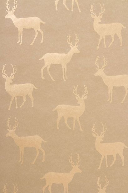 {Metallic Stag Wallpaper} my Wall of Nature would look spiffy with this behind my wildlife art!