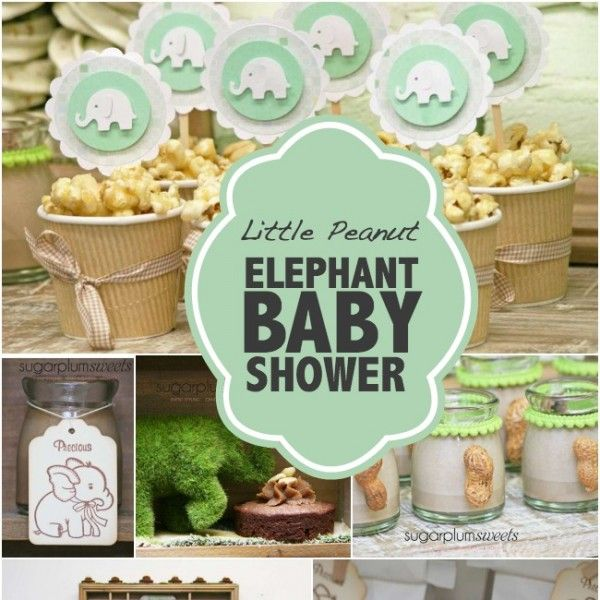 Ready to welcome a new baby? A Little Peanut Baby Shower with elephants, peanut favors, rustic decorations and the sweetest treats are all you need to celebrate!