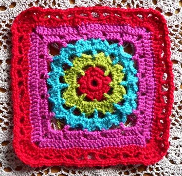 Violet square (to pattern) by Jacqui Goulbourn