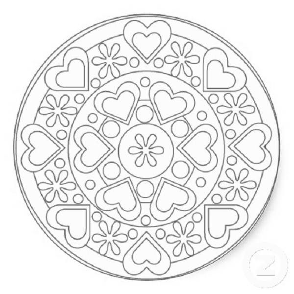 Celtic Heart Mandala Coloring Pages Trend