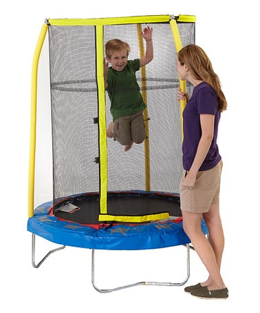 I know a little boy who is going to love this for his birthday! Take a look at this Elephant Enclosed Trampoline by Bazoongi on @zulily today!