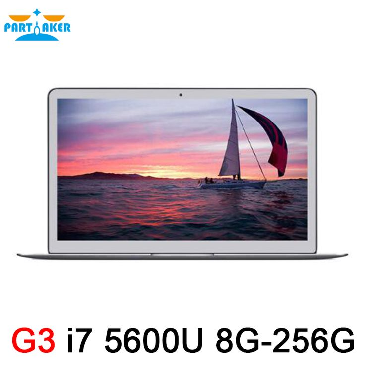 Metal de aluminio portátil ultrabook intel core i7 5600u 8g ram 256g Ventana Portátil 7 8 10 Linux SSD Portátiles 7000 mah batería 2.6 Ghz