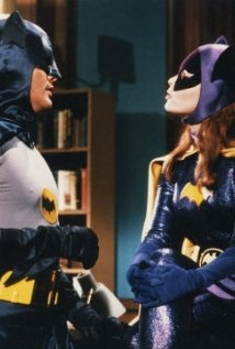 Batman, the TV series, 1966-1968 - my best friend Cheryl and I would fight over who would be Catwoman. My two boys (20 and 5) watched the Batman movie with Adam West over and over again!