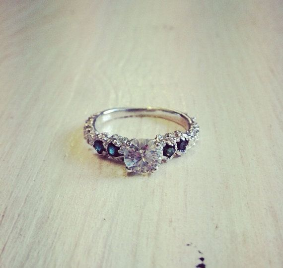 White Gold Engagement Ring with White by MichelleOhJewellery, £680.00