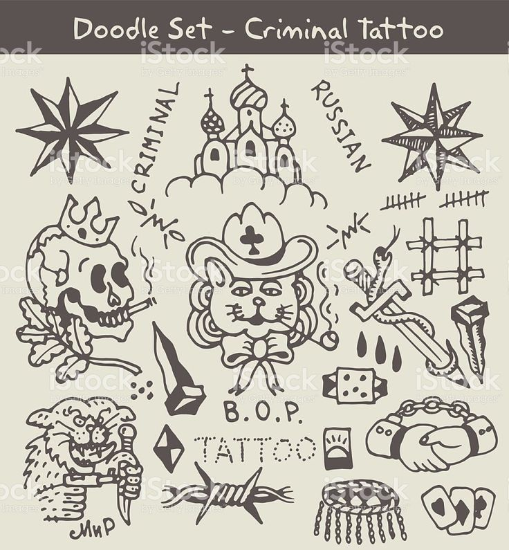 russian criminal tattoo stock vecteur libres de droits libre de droits