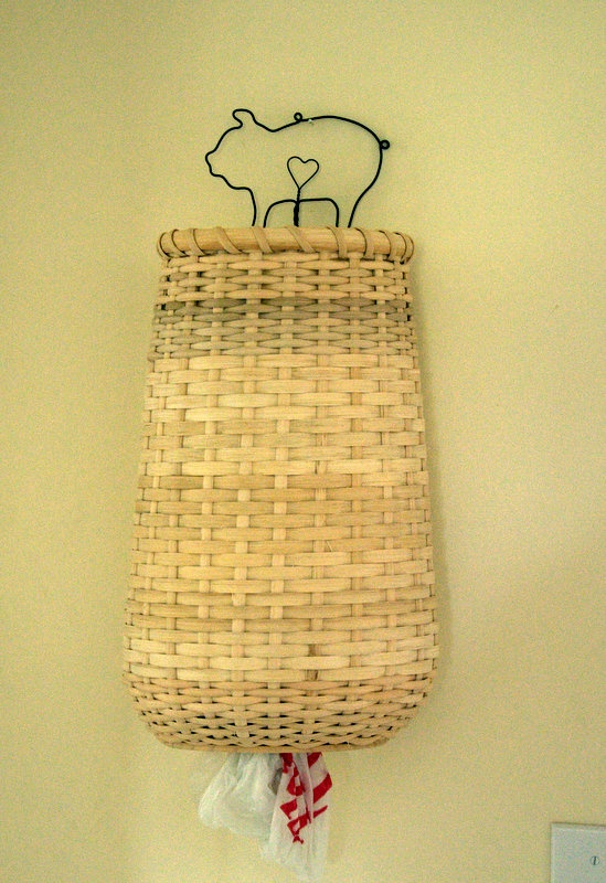 Basket made to hold bags