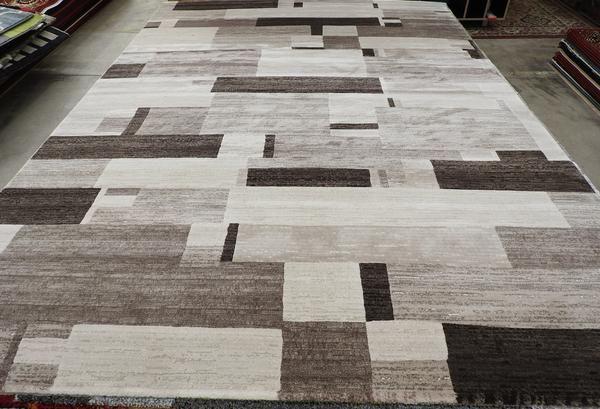 Block Design Modern Turkish Rug Size: 240 x 330cm