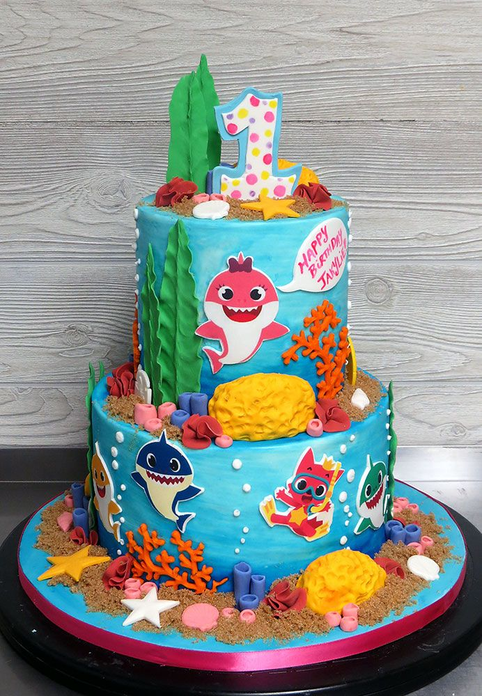 20 Awesome Image Of Shark Birthday Cake Shark Birthday Cakes