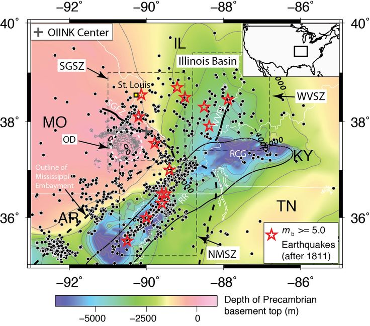 Indiana University geologists identify a new seismic zone near Illinois-Missouri border, suggesting a greater possibility of earthquake effects than was previously known.