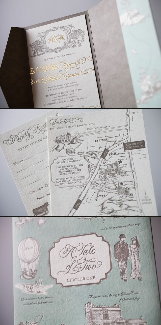 amazing letterpress and foil wedding invitations from