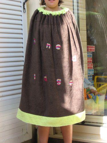 Cabine de plage couleur pistache-chocolat - tuto - paminatelier.com à réadapter à ma taille et avec le tissus disponible (coton??)