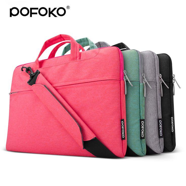 POFOKO Brand waterproof latop bag for macbook air 13 sleeve funda portatil 11.6 15.6 inch laptop notebook sleeve messenger bag