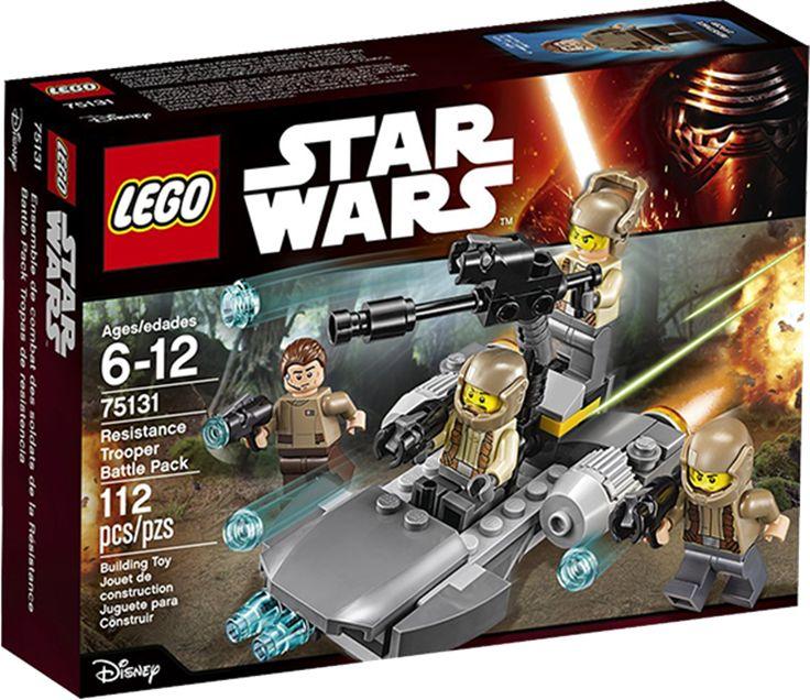 LEGO STAR WARS 75131 Resistance Trooper Battle Pack Konstruktionssæt med LEGO klodser: STAR WARS Resistance Trooper Battle Pack (75131)First Order er blevet opdaget i nærheden, og de skal standses! Få modstandsbevægelsen tropper ind i speederen, lad skyderen, og sus af sted for at finde dem!