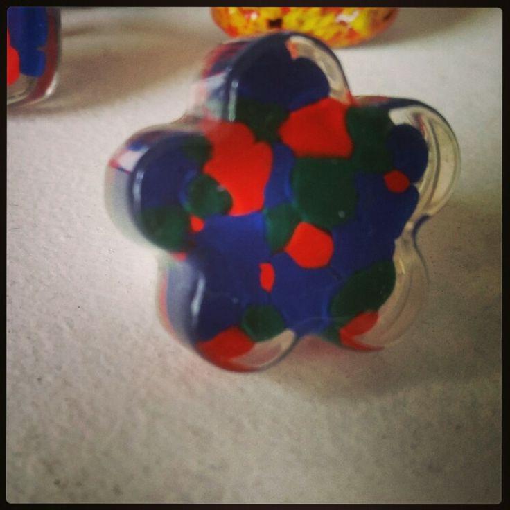 Colourful handmade ring