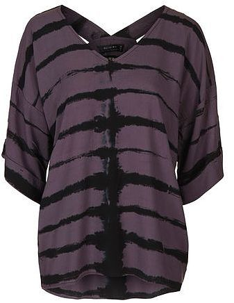 Womens aubergine positive top by religion from Topshop - £50 at ClothingByColour.com