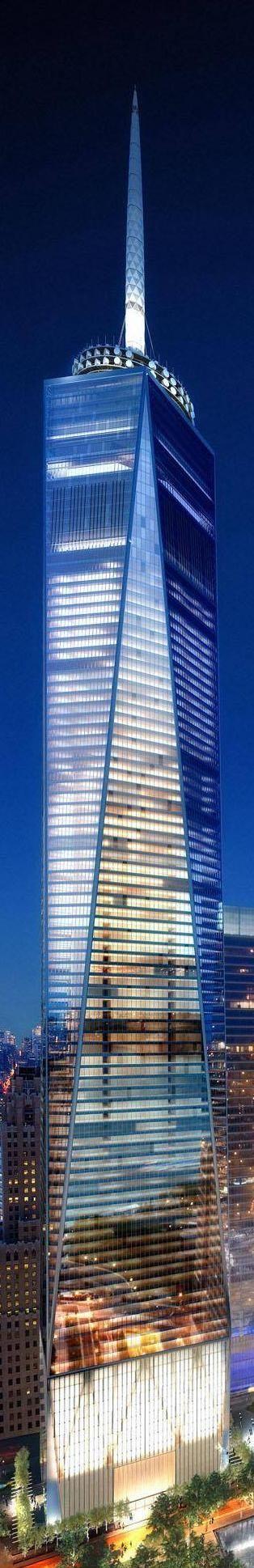 One World Trade Center (1WTC), NYC | 541m | 1776ft | 104 fl.......Stunning! kur spa nyc <3