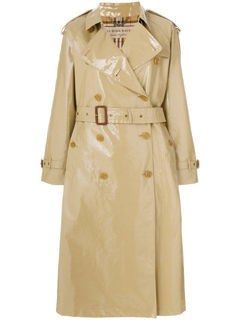 BURBERRY patent trench coat. #burberry #cloth #