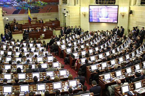 Andres Garcia Zuccardi en la instalación de sesiones ordinarias del Congreso de la República