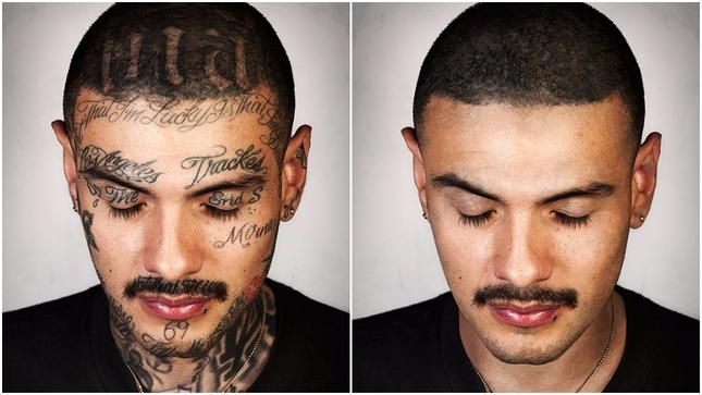 Фотографът Стивън Бъртън (Steven Burton) създава интересния проект Skin Deep, в който показва как биха изглеждали 9 души без своите татуировки. И тук не става въпрос за един татус, а за почти изцяло татуирани тела, включително и лица.