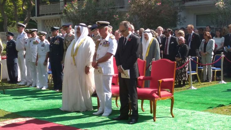 "UK Embassy Bahrain on Twitter: ""HRH The Prince of Wales at the British Embassy for Remembrance Service @UKinBahrain #LestWeForget @#RoyalVisitBahrain @ClarenceHouse"