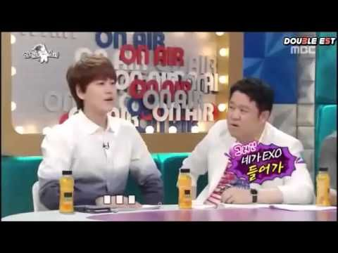 Heechul shoot words back to kim gura when asking abt EXO