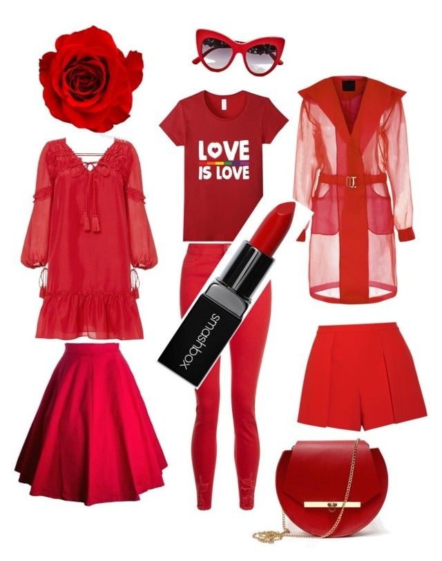 """""""red"""" by dilmirai on Polyvore featuring 10 Crosby Derek Lam, Alice + Olivia, Smashbox, Dolce&Gabbana and Angela Valentine Handbags"""