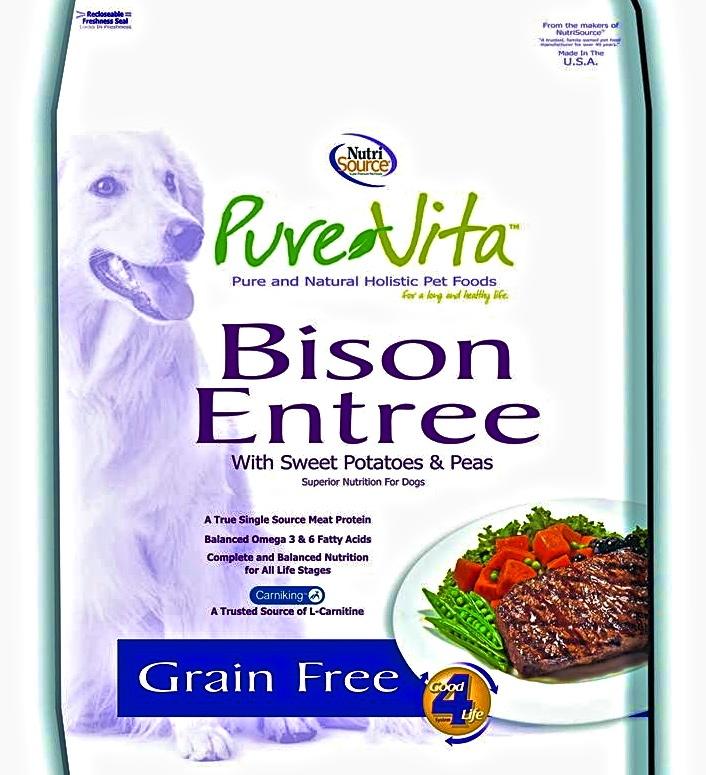 Pure Vita Grain Free Bison Dog Food
