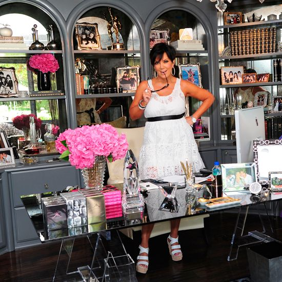 Kris Jenner Office Decor | Kris Jenner, however, loves her monochrome home, which she describes ...