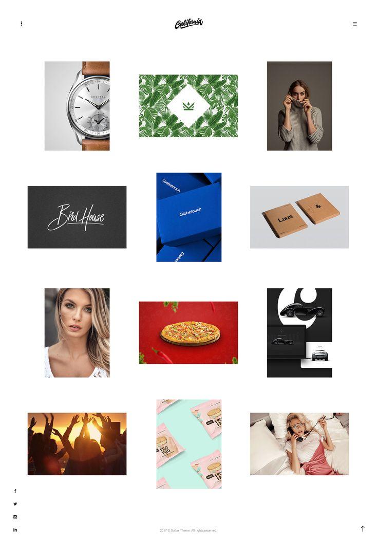 California - Creative Portfolio WordPress Theme Website