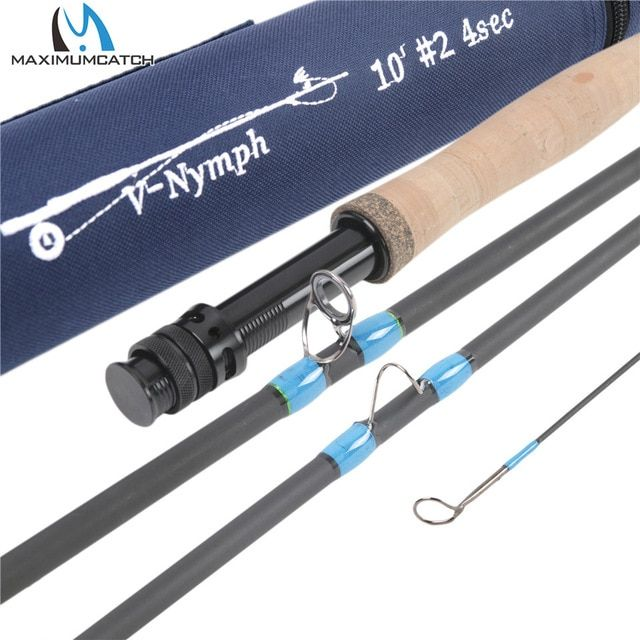 Maximumcatch 10ft 11ft 2 3 4wt 4sec Nymph Fly Fishing Rod Im10 Graphite Carbon Fiber Fast Action Fly Rod With Nymph Line Fly Fishing Rods Fishing Rod Fly Rods