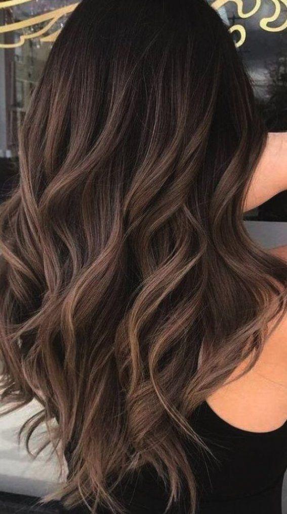 Haarfarbe Ideen F R Helle Haut Und Gr Ne Augen Bei Haarfarbe Ndern Ideen F R Brunette Hair Color Hair Color Dark Hair Styles