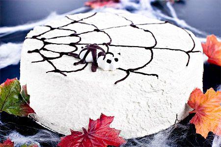 Spindeltårta med sockerkaksbotten