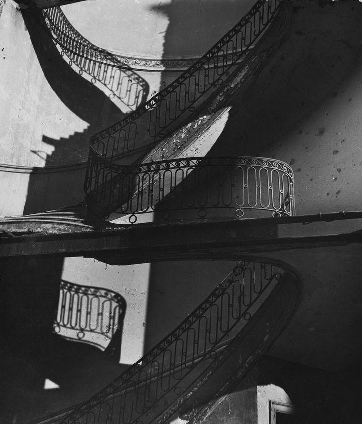 Bill Brandt. Bombed Regency Staircase, Upper Brook Street, Mayfair. c. 1942