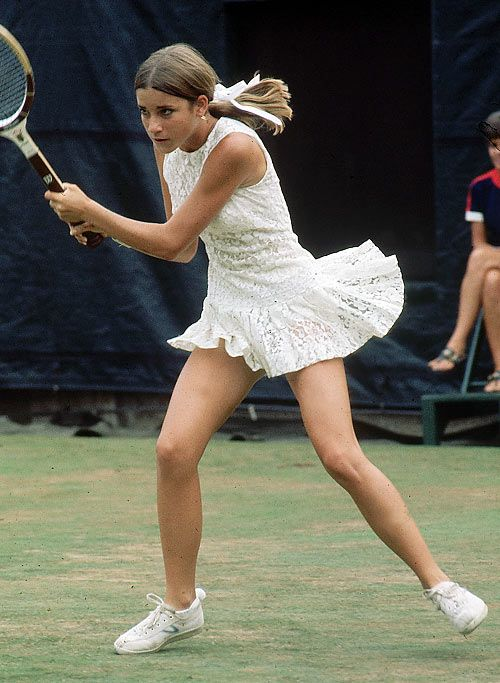 With lace, frills, tuxedos, stripes and scalloped edges, who knew Tennis was so fashionable! We think Chris Evert's outfit in the US Open in 1971 is very on-trend for now…
