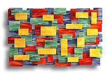 """Four Seasons by Karo Martirosyan (Art Glass Wall Sculpture) (36"""" x 53.5"""")"""