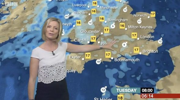 BBC weather: Sarah Keith-Lucas wows in busty blouse but fans beg for Carol Kirkwood - https://buzznews.co.uk/bbc-weather-sarah-keith-lucas-wows-in-busty-blouse-but-fans-beg-for-carol-kirkwood -