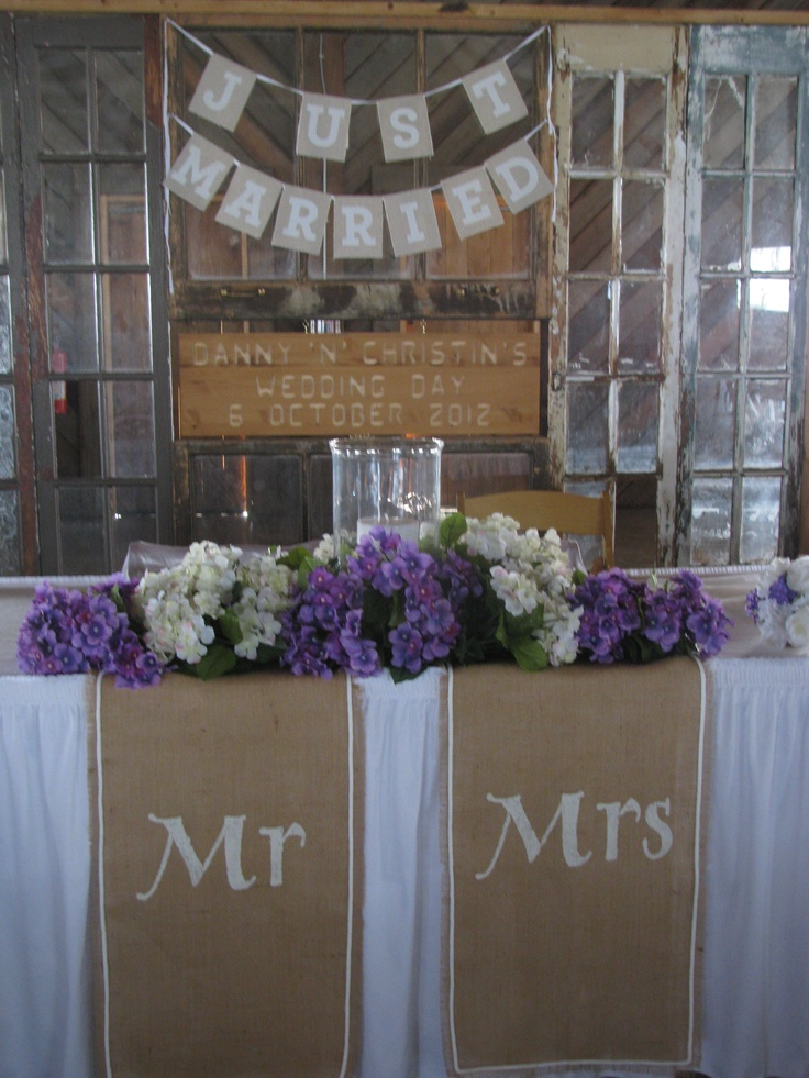 Bride and groom table wedding ideas pinterest for Wedding party decorations