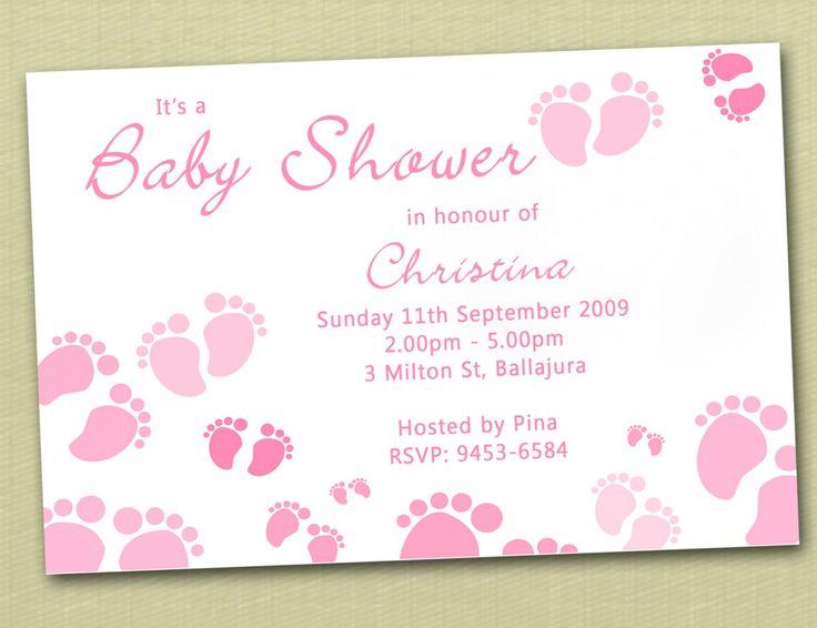 Footprint Baby Shower Invitations stunning online baby shower invitation for extra ideas 9678