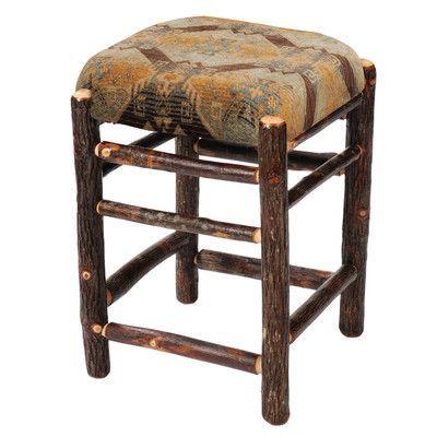 "Fireside Lodge Hickory 24"" Bar Stool Upholstery:"
