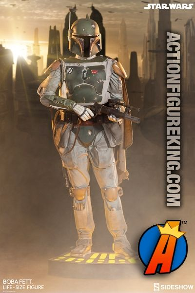 Life-size #BOBAFETT figure with electronic features. See a full line of new and vintage #StarWars toys, collectibles, and figures here…  http://actionfigureking.com/list-3/sideshow-collectibles/busts-and-statues-from-sideshow-collectibles/boba-fett-life-size-figure-by-sideshow-collectibles