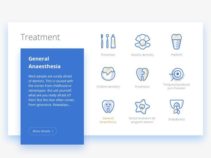 Icons (Dental clinic website redesign) by Oksana Timoshyk