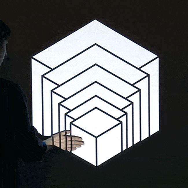 Aakash Nihalani's Projection Art Springs to Life with Human Interaction - My Modern Met